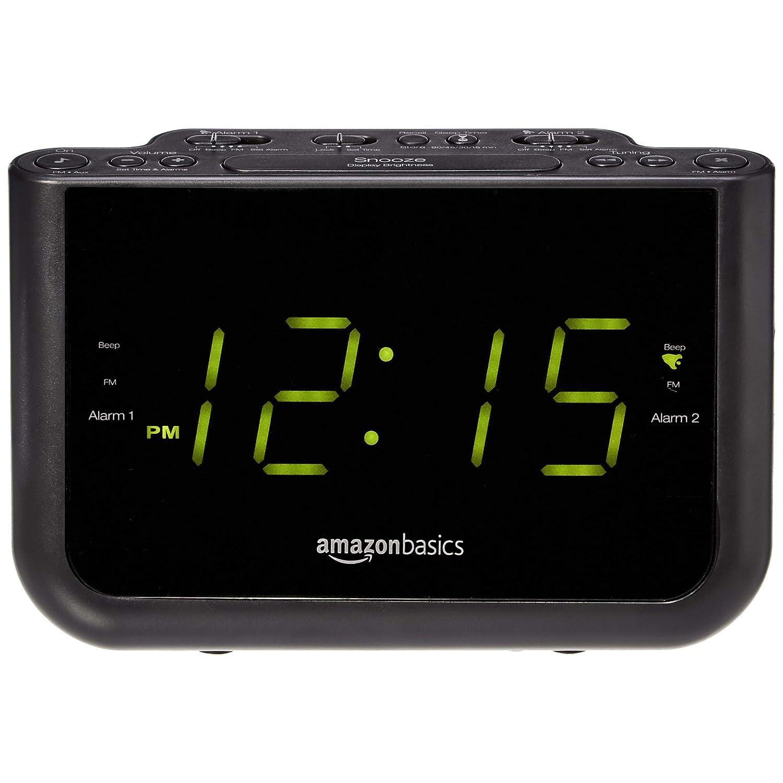 Amazon.com: AmazonBasics - Radio FM con alarma dual y puerto ...