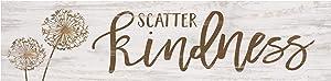 P. Graham Dunn Scatter Kindness Dandelion Whitewash 6 x 1.5 Mini Pine Wood Tabletop Sign Plaque