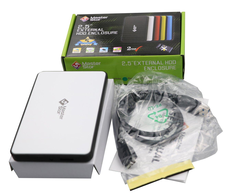MasterStor (Garantí a de 1 Añ o) Unidad de disco duro de respaldo de un toque Disco duro externo SATA de 2, 5 pulgadas Disco duro externo portá til USB 3.0 Disco duro externo portá til y disco duro de PC Blanco 250GB