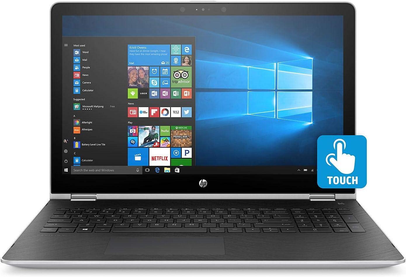 "Newest HP Pavilion X360 2-in-1 Convertible 15.6"" FHD IPS Multitouch Screen Laptop   Intel Quad Core i5-7200U   8GB RAM   512GB SSD   AMD Radeon 530 Dedicated Graphics   Backlit Keyboard   Windows 10"