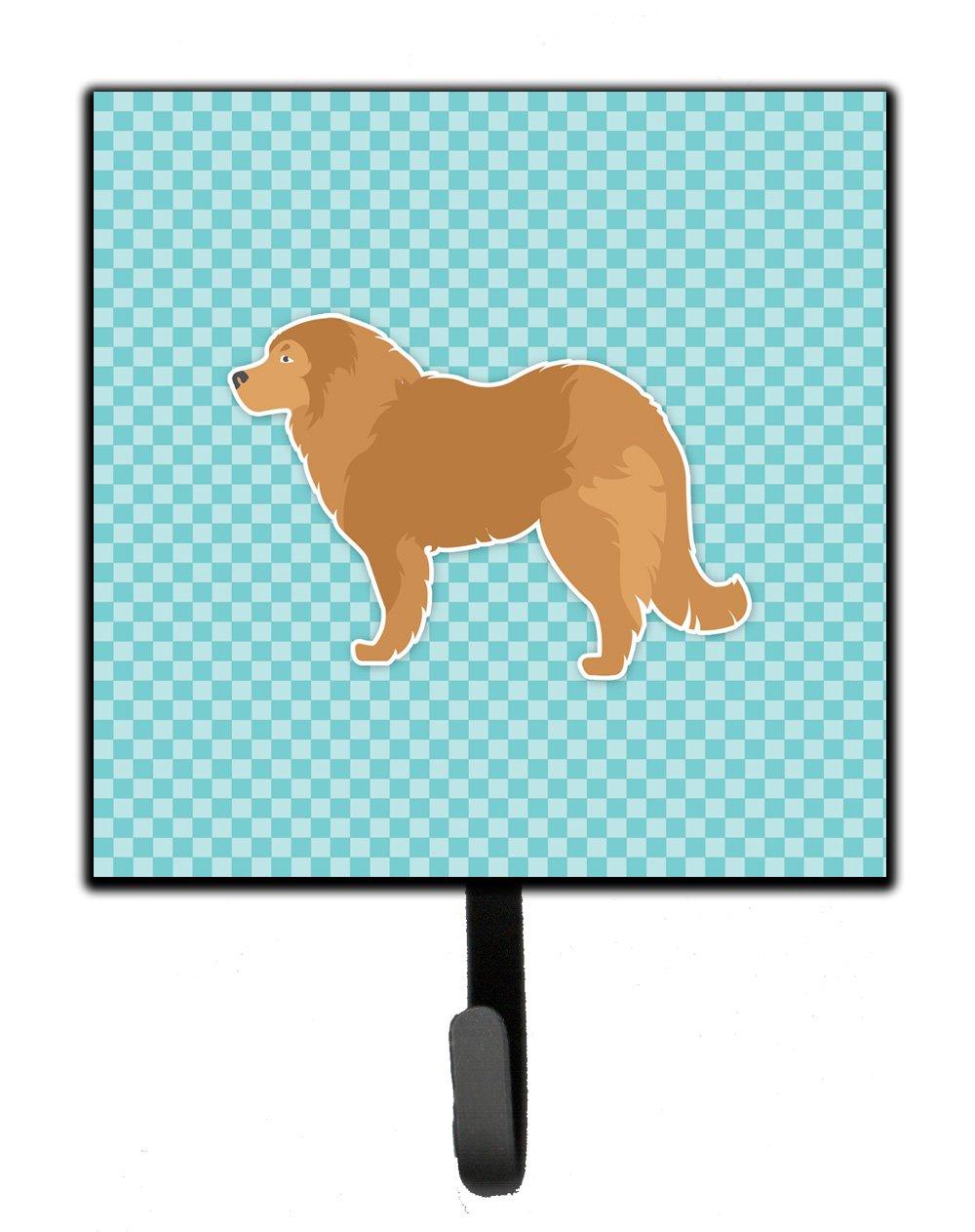 Carolines Treasures Caucasian Shepherd Dog Checkerboard Blue Leash or Key Holder BB3725SH4 Small Multicolor