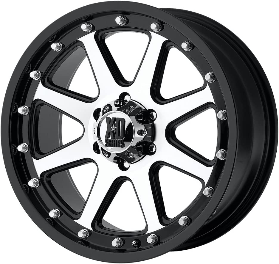 XD Series by KMC Wheels XD798 Addict Matte Black Wheel With Machined Accents 17x9//6x114.3mm, +18mm offset