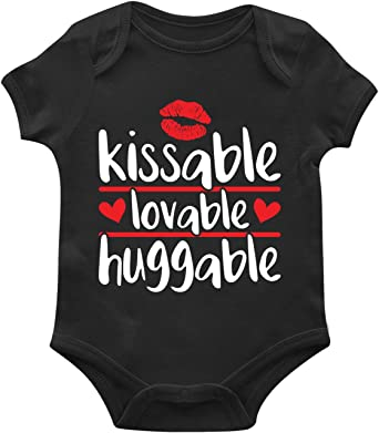 SpiritForged Apparel Kissable Lovable Huggable Toddler T-Shirt