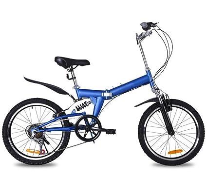 Bicicleta Plegable De Montaña De 20 Pulgadas Bicicleta De Montaña 6 Velocidades Regalo De La Bicicleta