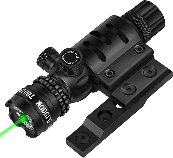EZshoot Keymod Green Laser Sight Green Dot 532nm Rifle Scope with Keymod Rail Mount for Outdoor Hunting Shooting - Include Barrel Mount Cable Switch
