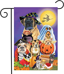 "Briarwood Lane Trick or Treat Dogs Halloween Garden Flag Cats Jack O'Lantern 12.5"" x 18"""