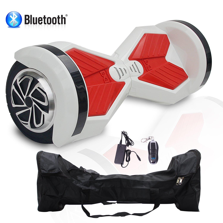 HoverBoard/Skateboard/Gyropode Éléctrique Auto-équilibrage Bluetooth Scooter Trottinette Électrique 8 Pouces, Cool& Fun Cool&Fun (Blanc-Rouge) Ltd