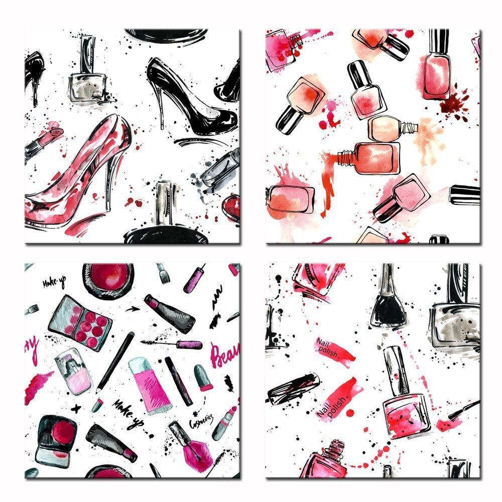 Fashionable Clothes Shoes Jeans Lipsticks Nail Polish: Lips Wall Art: Amazon.com