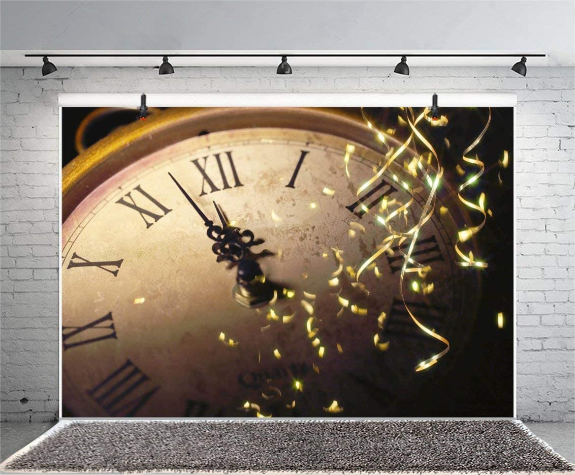 GoEoo 9x6ft Vintage Old Clock Backdrop Confetti Kids Girls Family Photography Backdrops Portrait 2019 Happy Year Eve Background Videos YouTube Photo Studio Props