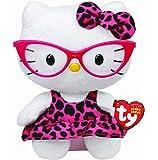 TY 40958 - Hello Kitty Baby-Fashionista, 15 cm, pinkfarbene Brille