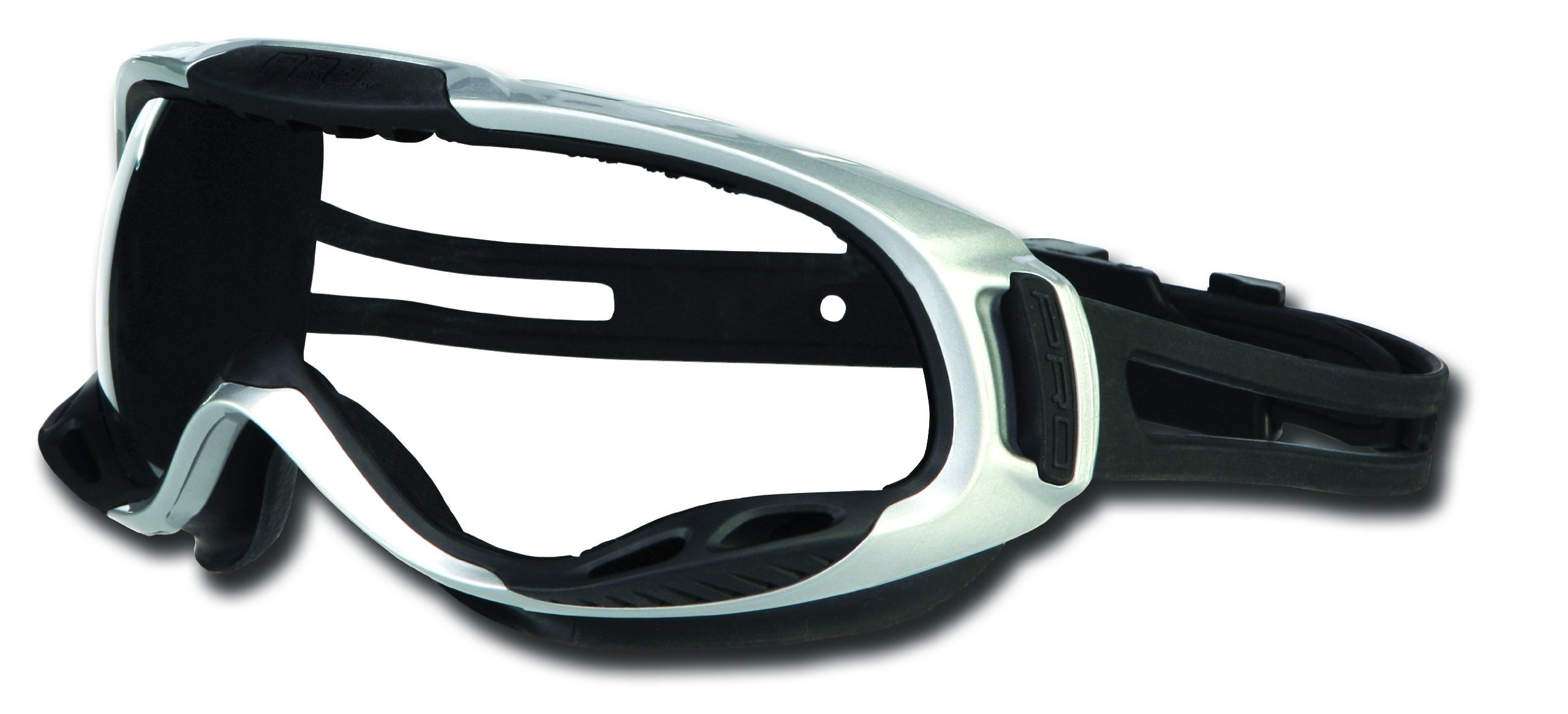 MCR Safety PGX120AF PGX1 Thermo Plastic Rubber Adjustable Strap Safety Goggle with Smoke Frame and Clear Anti-Fog Lens