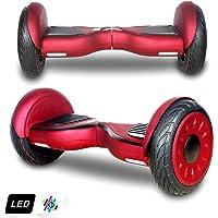 Markboard Gyropode Bluetooth 10 Pouces, Balance Board Scooter Électrique Auto-équilibrage (Rouge-j)