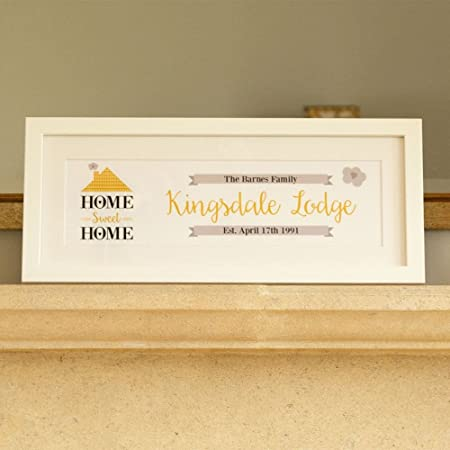 Personalised Home Sweet Home Print Gold Design New Home Family