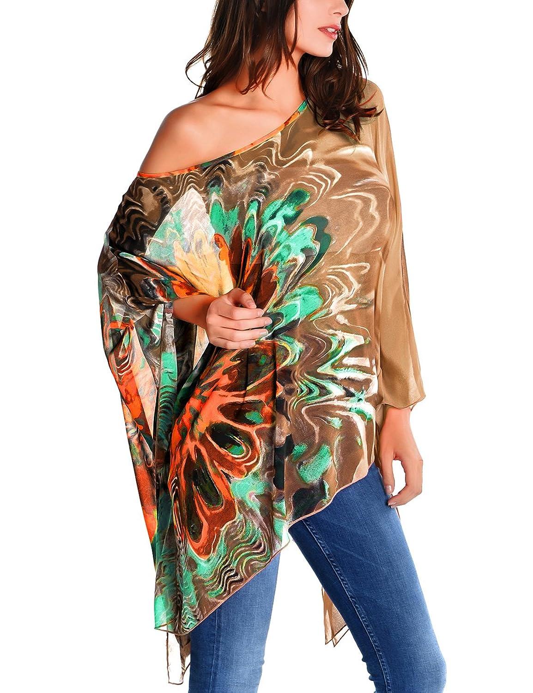 Cheap DJT Women's Floral Chiffon Summer Beachwear Swimsuit Cover up hot sale