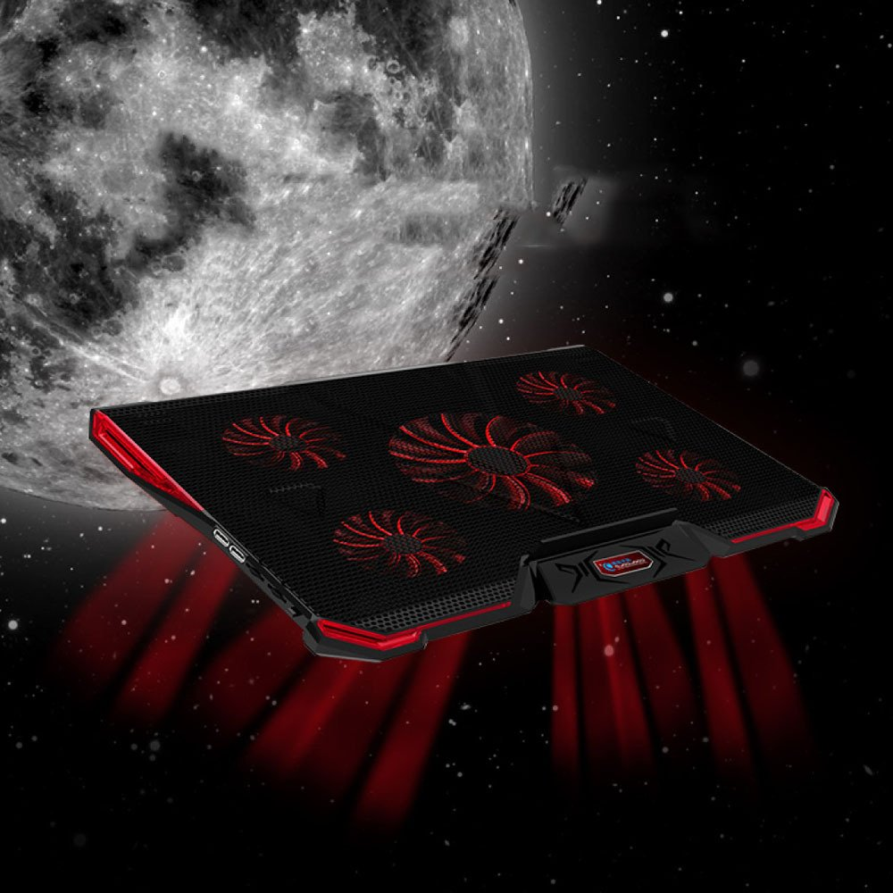Cooling Pads LDFN Gaming Laptop Cooler 18-20 In Portable Ultra-Slim 5 Quiet Fans Laptop With LCD Screen Adjustable Height And Speed,Black-4129.22.9cm by Cooling Pads (Image #7)