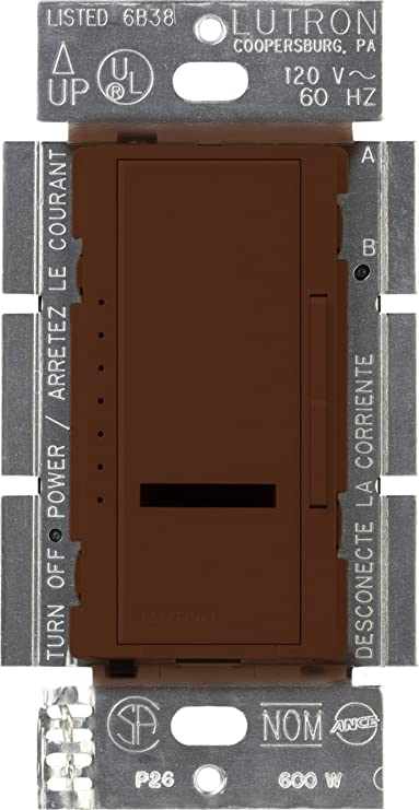 Lutron MIR-600-BR Maestro IR 600-Watt Single-Pole Dimmer, Brown - Wall Dimmer Switches - Amazon.com