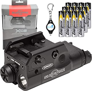 product image for SureFire XC2 Weaponlight Ultra Compact LED Handgun Light with 12 Extra Energizer AAA Batteries and Lumintrail Keychain Light