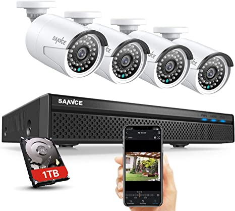 SANNCE 1pcs FHD Wireless 1080P IP Security In//Outdoor Camera IP66 Remote Night