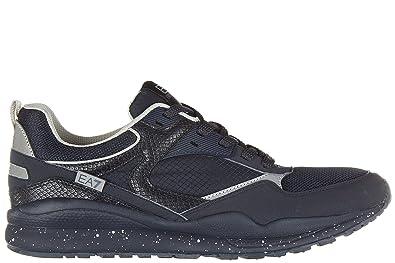 Emporio Armani Scarpe Sneakers Uomo Nuove Originale 90m, Baskets pour homme  bleu bleu , bleu