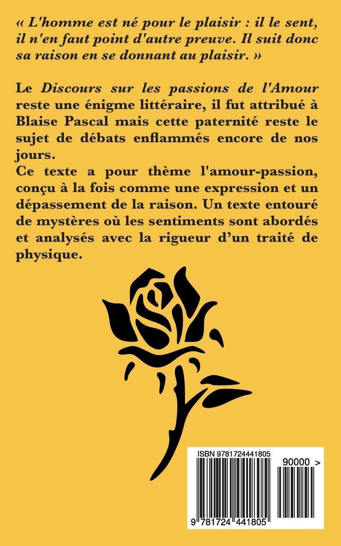 Discours Sur Les Passions De Lamour Amazones Blaise