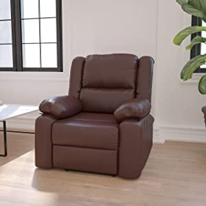 Flash Furniture Love Seats, Brown LeatherSoft