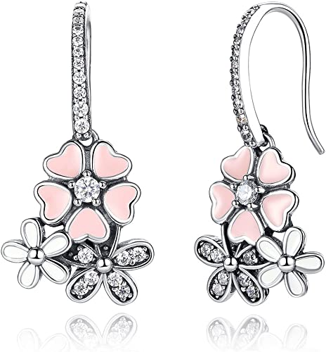 New Stylish Fashion Womens Brushed-Silver-Color Charm Drop Dangle Hook Earrings
