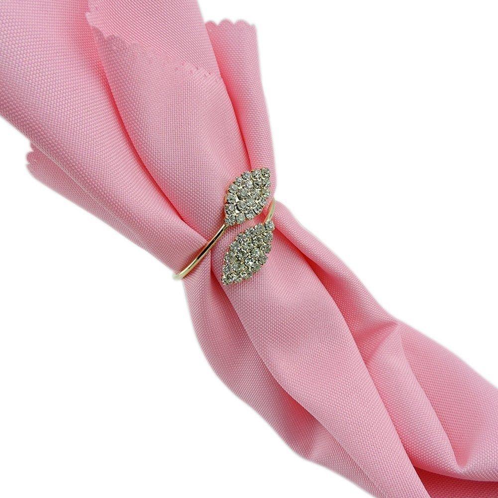 Amazon.com: iDili Napkin Rings Set of 6 Pcs Rhinestone Napkin Ring ...