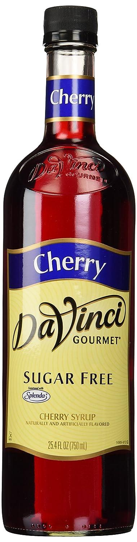 Da Vinci SUGAR FREE Cherry Syrup with Splenda, 750 ml