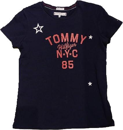 Tommy Hilfiger - Essential Tommy NYC - Camiseta Azul NIÑA (10 ...