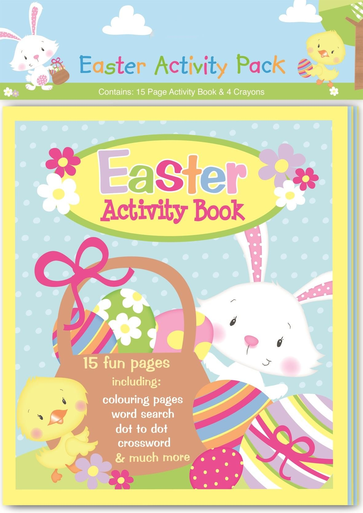 Easter presents for children amazon easter activity crayons set colouring book kid child fun gift pages present favour party exercise travel negle Choice Image
