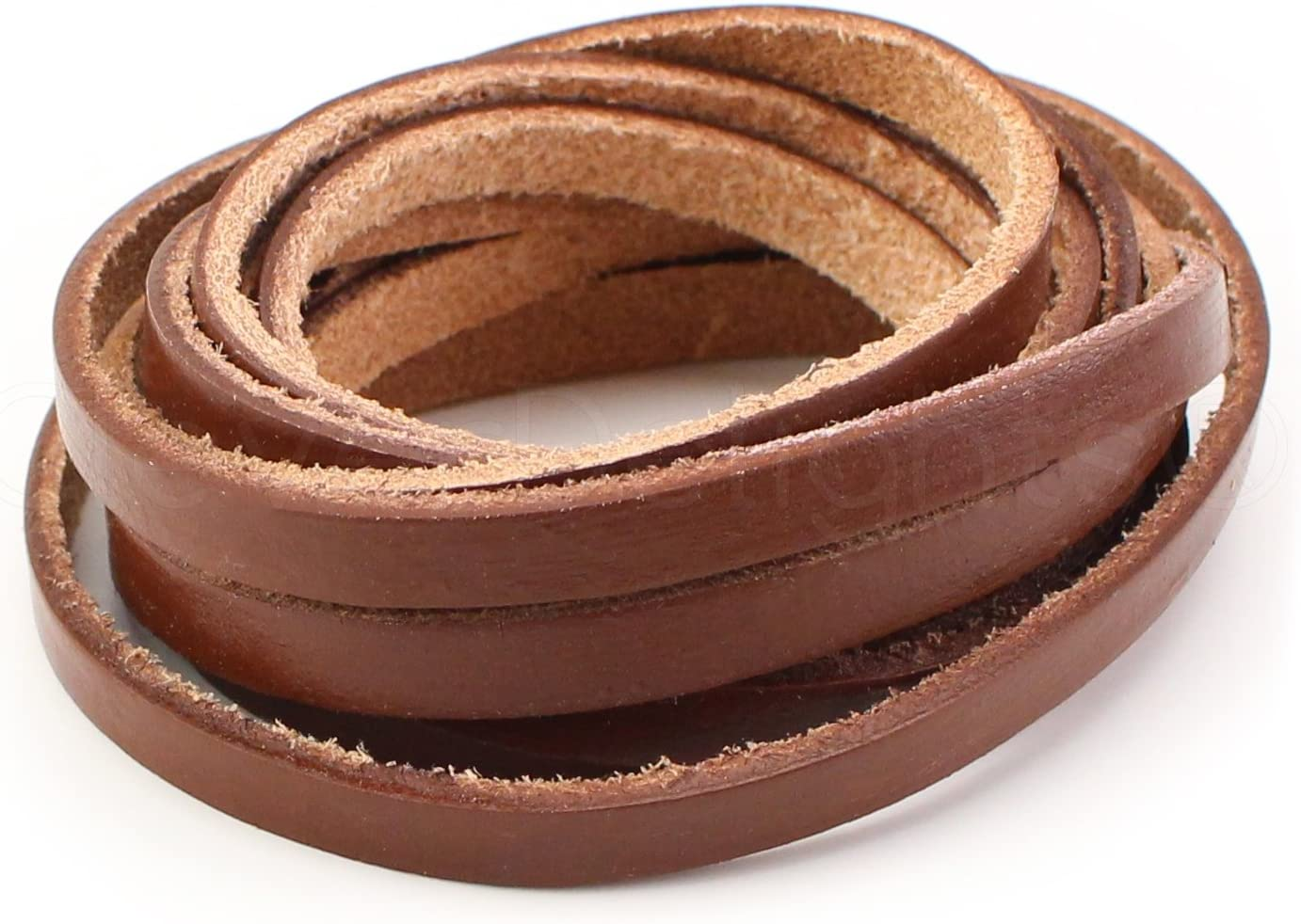 5oz Genuine Leather CleverDelights Premium Cowhide Leather Strap Jewelry Craft Supply 15 Feet Long Dark Brown 1 Wide