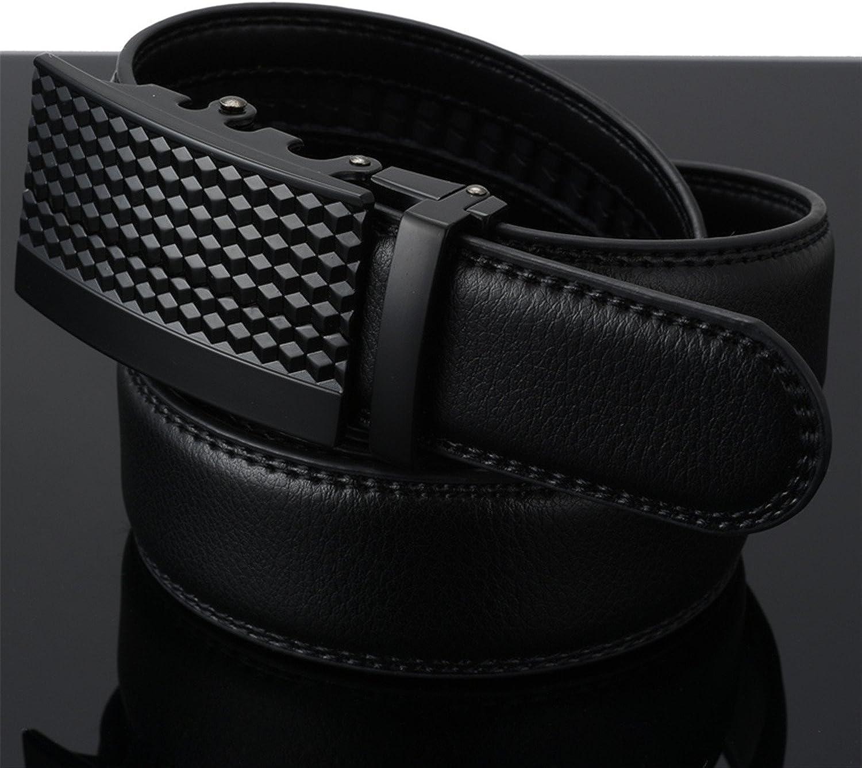 Business Leather Luxury Men`s Belt Tactical Automatic buckle belts