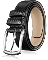 Men's Genuine Leather Dress Belt for Work Business and Casual Occasions - Classic, Fashion, and Functional