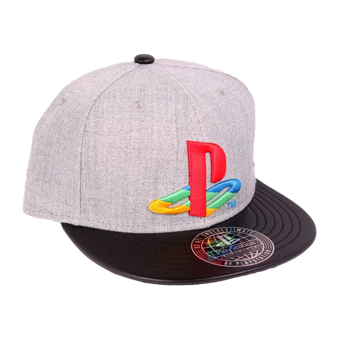 Playstation - Casquette snapback baseball logo - Gris, noir Elbenwald 2909