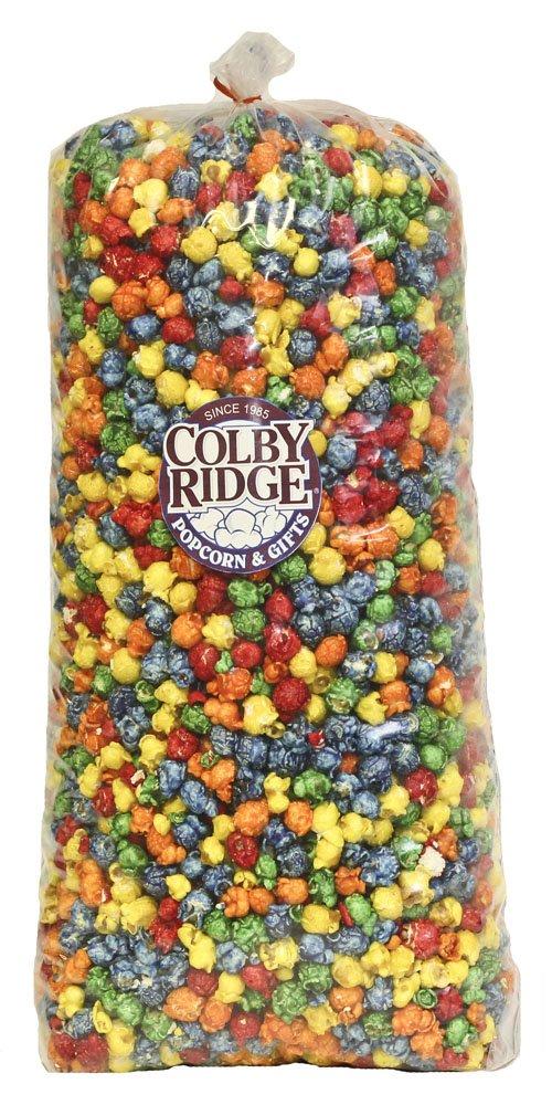 Rainbow Popped Popcorn 91 oz. (Bulk 5 Gal. 80 Cups) by Colby Ridge (Image #1)