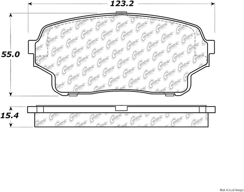 Centric Parts 104.09840 104 Series Semi Metallic Standard Brake Pad
