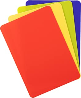 product image for Dexas Heavy Duty Grippmat Flexible Mini Cutting Board Set of Four, 5.5 x 8, Blue, Green, Yellow, Red, 5.5 x 8 inches