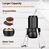 STARESSO Portable Espresso Maker, 3rd Gen Upgraded Manual Travel Espresso Machine,【Professional 15~20 Bar】【Two Shots at One Time】【Food Grade Material】Cool Compact for Travel Camping & Kitchen Office