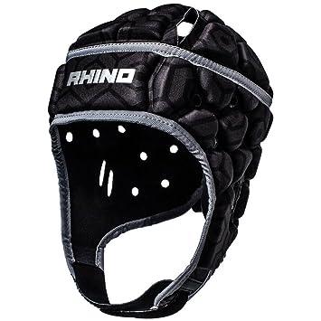 Rhino Pro – Casco protector de rugby – Senior, color negro, color , tamaño