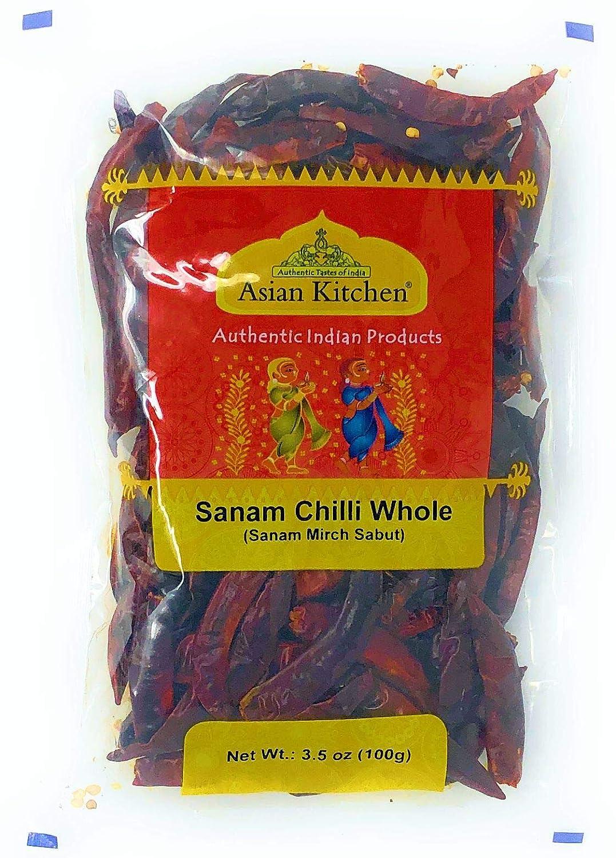 Asian Kitchen (By Rani Brand) Sanam Chilli Whole, Indian Chilli 3.5oz (100g) ~ All Natural | Vegan | Gluten Friendly | NON-GMO | Indian Origin