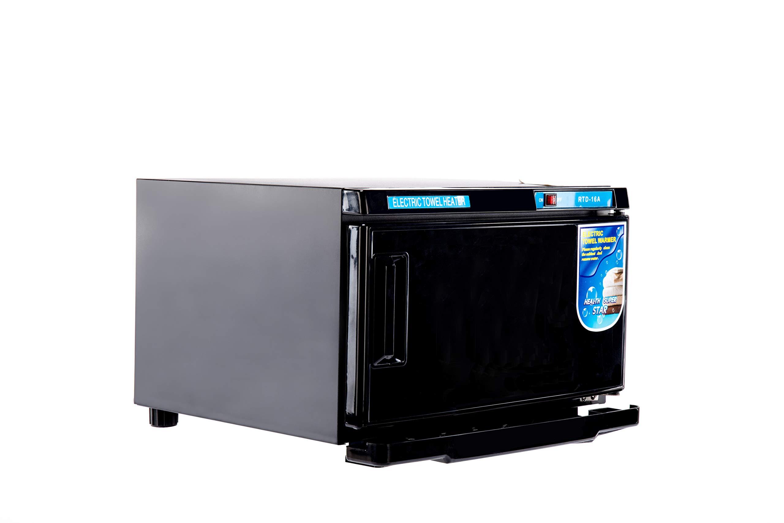 Barberpub 2in1 16L UV Sterilizer Hot Towel Warmer Cabinet Facial Skin Spa Massage Hair Beauty Salon Equipment TS05 (Black) by BarberPub (Image #1)