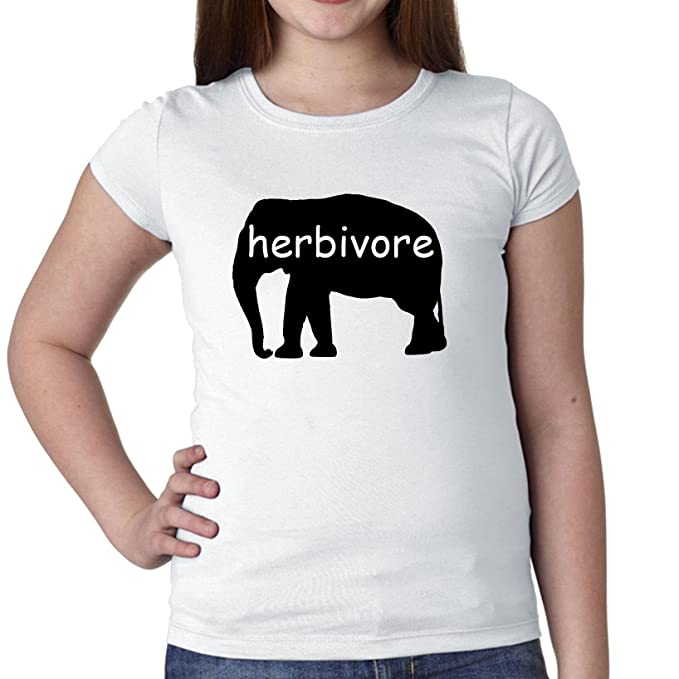 herbívoro elefante gráfico vegetariana vegana apoyo para niña de algodón juventud camiseta