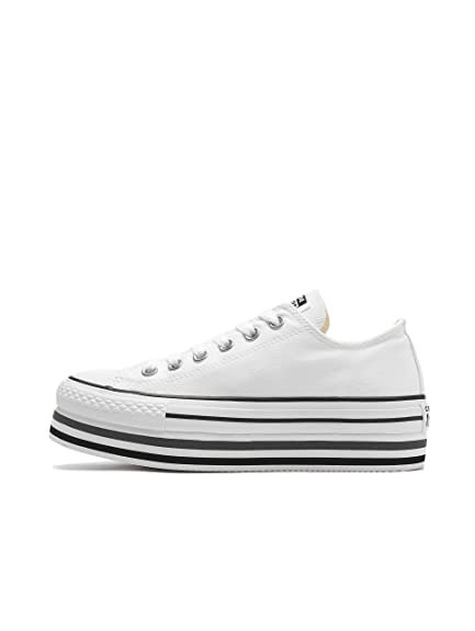 6d42e05202 Converse Women Sneakers Chuck Taylor All Star Platform Layer Ox White 36