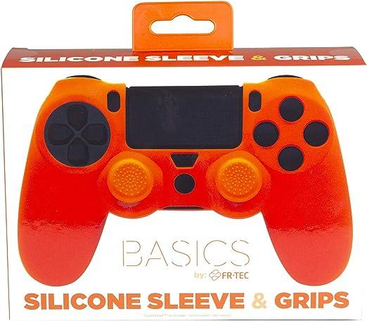 FR-TEC - Protector De Silicona con Grips Color Naranja (PlayStation 4): Amazon.es: Videojuegos