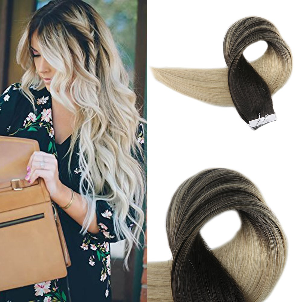 Amazon Full Shine 22 Balayage Ombre Tape In Human Hair