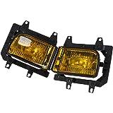 Possbay Sto/ßf/änger Gitter Nebelscheinwerfer mit Gl/ühbirne 12V LED Angel Eyes Links/&Rechts Nebelleuchte Scheinwerfer