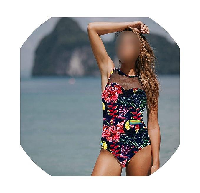 Amazon.com: 1 pieza traje de baño clásico mujer sexy traje ...