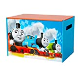 Thomas and Friends Kids Toy Box - Childrens Bedroom Storage Chest with Bench Lid by HelloHome