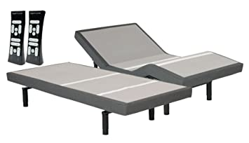 leggett & platt S-Cape Split King 2 0 Adjustable Wireless Wall Hugger Bed  Base