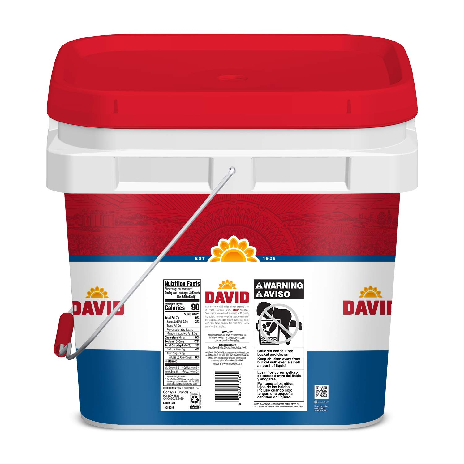 David Seeds Original Sunflower Bucket, 3.37 Pound by DAVID Seeds (Image #10)